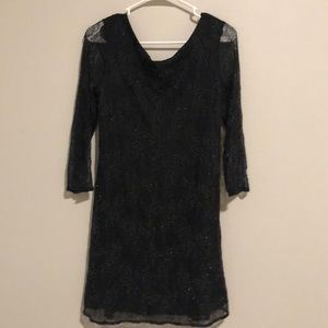 Zara lace embroidered dress